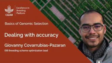 Embedded thumbnail for Basics of Genomic Selection 3. Dealing with Accuracy